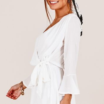 Sunday Breeze playsuit in white Produced By SHOWPO