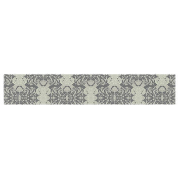 "Mydeas ""Illusion Damask Silver"" Gray Table Runner"