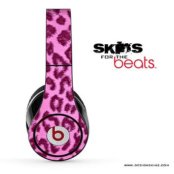 Furry Pink Leopard Print Skin for the Beats by Dre