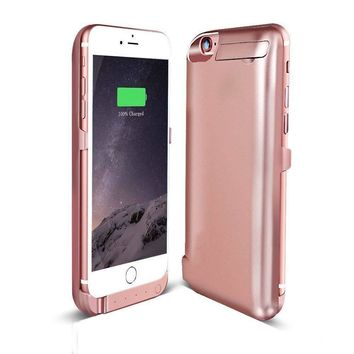 For Apple iPhone 6/6s Battery Rechargeable Charger Portable Charging Case PINK