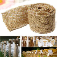 3M Natural Jute Hessian Burlap Ribbon Rustic Weddings Belt Strap Craft Floristry