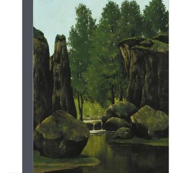 Landscape with Brook and Rocks Giclee Print by Gustave Courbet at Art.com