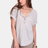 Cafe Latte Oversized Top