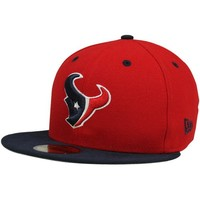 New Era Houston Texans Two-Tone 59FIFTY Fitted Hat - Red/Navy Blue