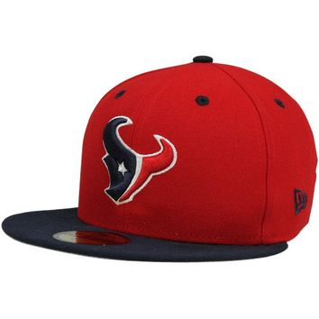 New Era Houston Texans Primary Fan 9FIFTY Snapback Hat - Navy Blue