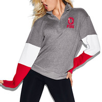 The Ohio State University Bling Boyfriend Half-Zip - PINK - Victoria's Secret