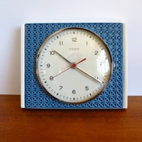 West German Pottery Kienzle Ceramic Wall Clock - Working