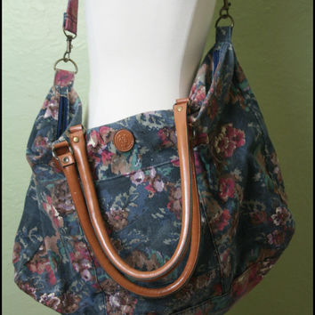 Vintage '90s Grunge Over sized Floral Bag by StoriesForBoys