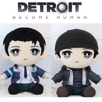 Cool Detroit: Become Human DBH Connor RK800 Plush Stuffed Pillow Doll Cushion Plushie Toy Dress Up Clothes Hat Cute Gift Game CosplayAT_93_12