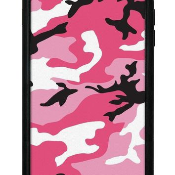 pink camo iphone 6 7 8 plus case  number 1