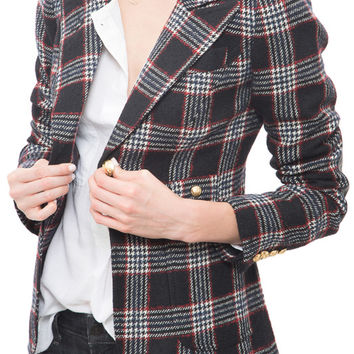 Smythe - Plaid Duchess Blazer
