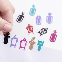 5 pcs/set new Cartoon metal bookmarks mark shape paper clip material escolar bookmarks for books stationery school supplies