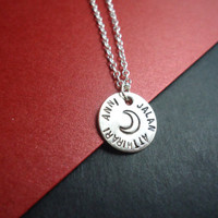 GAME OF THRONES Jalan Atthirari Anni Moon Of My Life Sterling Silver Metal Blank With Moon Silver Necklace Khaleesi Dothraki Geekery