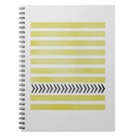 Yellow Stripes & Arrows Note Book