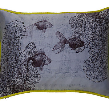 Swimming on Sky by Laura Goldstein (Silk Pillow) | Artful Home