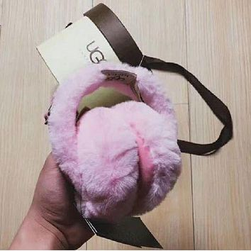 UGG Fashion Women Men Winter Warm Earmuff Pink I