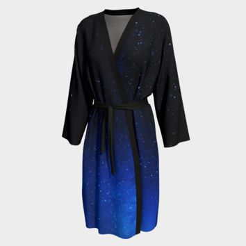 Peignoir Robe Night Full of Stars Print