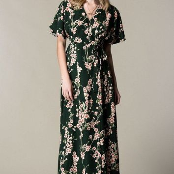 The Spring Evergreen Wrap/Robe
