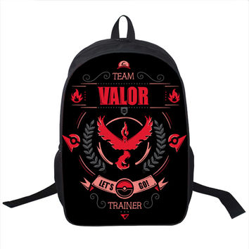 Anime Pokemon Go Backpack For Teenagers Girls Boys School Bags Pikacun Children School Backpacks Pokeball Kids Best Gift Bag