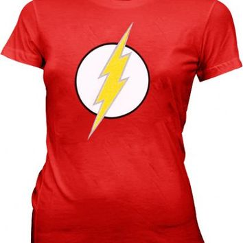 DC Comics The Flash Lightning Bolt Logo Red Juniors T-Shirt