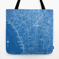 Los Angeles Map Tote Bag, Street Map travel theme tote, everything bag, allover print, gift for mom, beach bag, travel bag