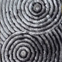 313 Gray Modern Hand Tufted Shag Area Rug Hand Carved 100% Polyester