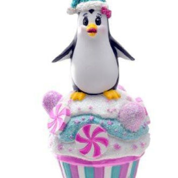 SeaWorld Penguin Cupcake Ornament New with Tag