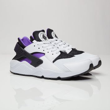 Nike Air HUARACHE Men Trainers White/Hyper Grape-Black-Purple Dynasty 318429-105