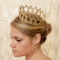 Gold Maiden Fairytale Lace Crown