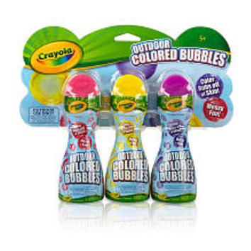 Crayola Outdoor Colored Bubbles - 3-Pack (Colors/Styles Vary)