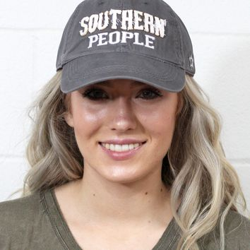 Southern People Distressed Cap {Grey}