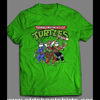 "TEENAGE MUTANT NINJA TURTLES ""HORROR MOVIE VILLAINS"" MASH UP SHIRT"