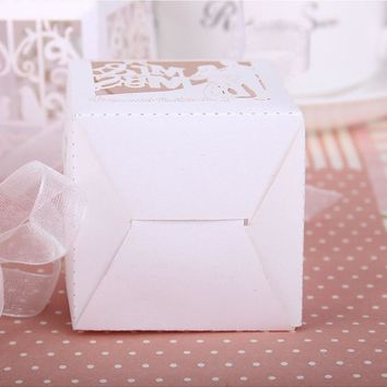Baby Shower,  Bridal  Candy Boxes Wedding Decoration Laser Cut