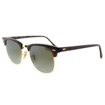 Kalete Authentic Ray Ban Clubmaster RB 3016 990/9J Red Havana Sunglasses 51mm Lens
