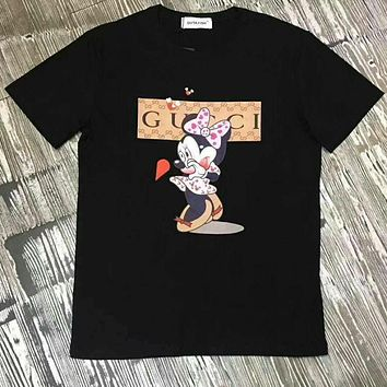 GUCCI Cute Fashion Mickey Short Sleeve Shirt Top Tee