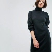ASOS Knitted Dress With Full Sleeve at asos.com