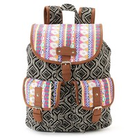 Candie's Parker Mixed Media Backpack (Black)