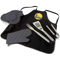 Golden State Warriors - BBQ Apron Tote Pro with Tools by Picnic Time
