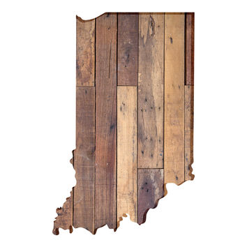 Indiana Faux Wooden wall decal