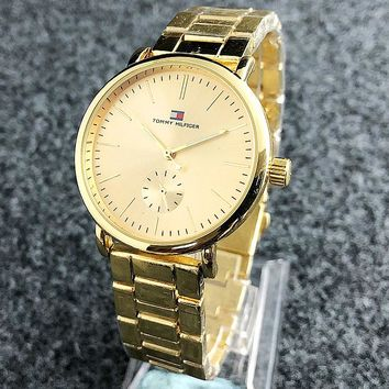 Tommy Hilfiger 2018 new men and women models simple fashion wild quartz watch F-Fushida-8899 4