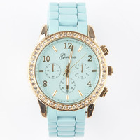 Geneva Boyfriend Watch Mint One Size For Women 25191052301