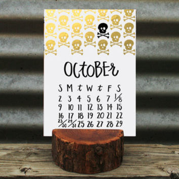 2016 Letterpress Stump Calendar