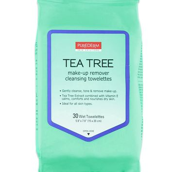 Tea Tree Make-Up Towelettes