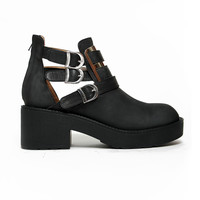 Jeffrey Campbell Clarkson Boot in Distressed Black