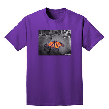 Monarch Butterfly Photo Adult Dark T-Shirt