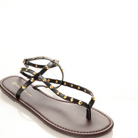 Spiky Strappy Thong Sandals