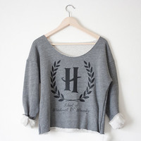 Hogwarts School of Witchcraft & Wizardry Athletic Crop Sweatshirt