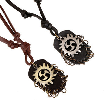 Gift Jewelry New Arrival Stylish Shiny Vintage Style Men Accessory Leather Necklace [6526666947]