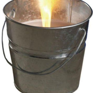 Tiki® 1412110 Citronella Wax Candle Bucket, Galvanized, 17 Oz