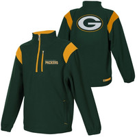 Green Bay Packers Quarter-Zip Micro Fleece Sweatshirt - Green